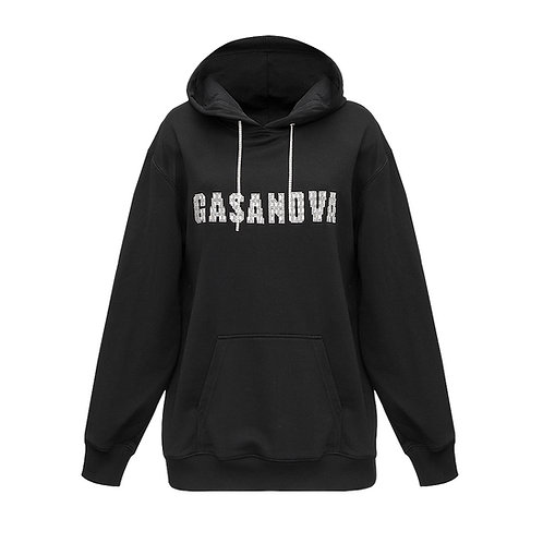 Hoodie with crystal lettering