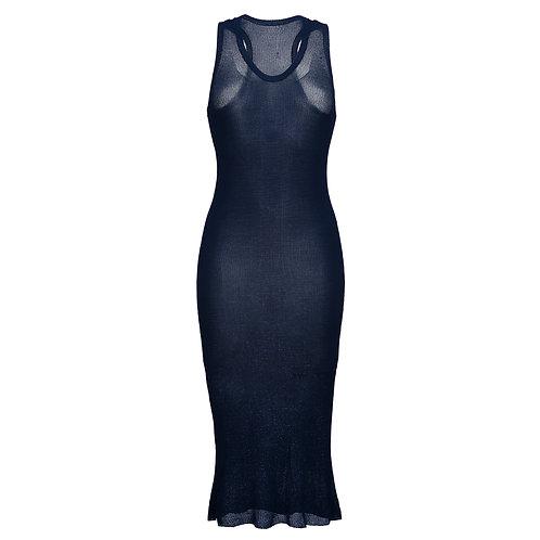 Платье миди тонкая вязка