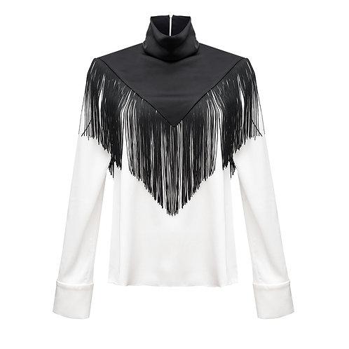 Шелковая блуза с бахромой NEW 2021