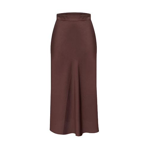 A-silhouette silk skirt