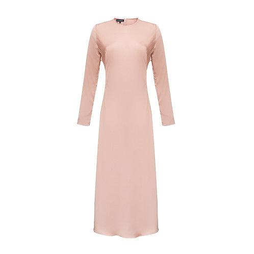 Silk dress A-silhouette