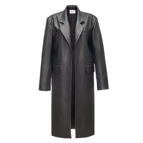 Eco Leather Trench Coat