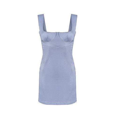 Мини-платье с корсетом