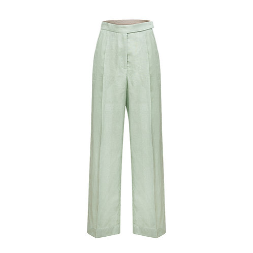 High-waisted trousers with belt