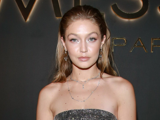Gigi Hadid Is a Walking Disco Ball in This Sheer Crystal Jumpsuit