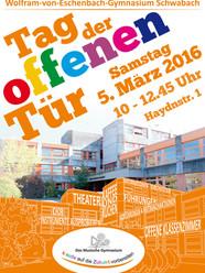 Plakat für den Tag der offenen Tür (Entwurf: A. Baumgärtel)