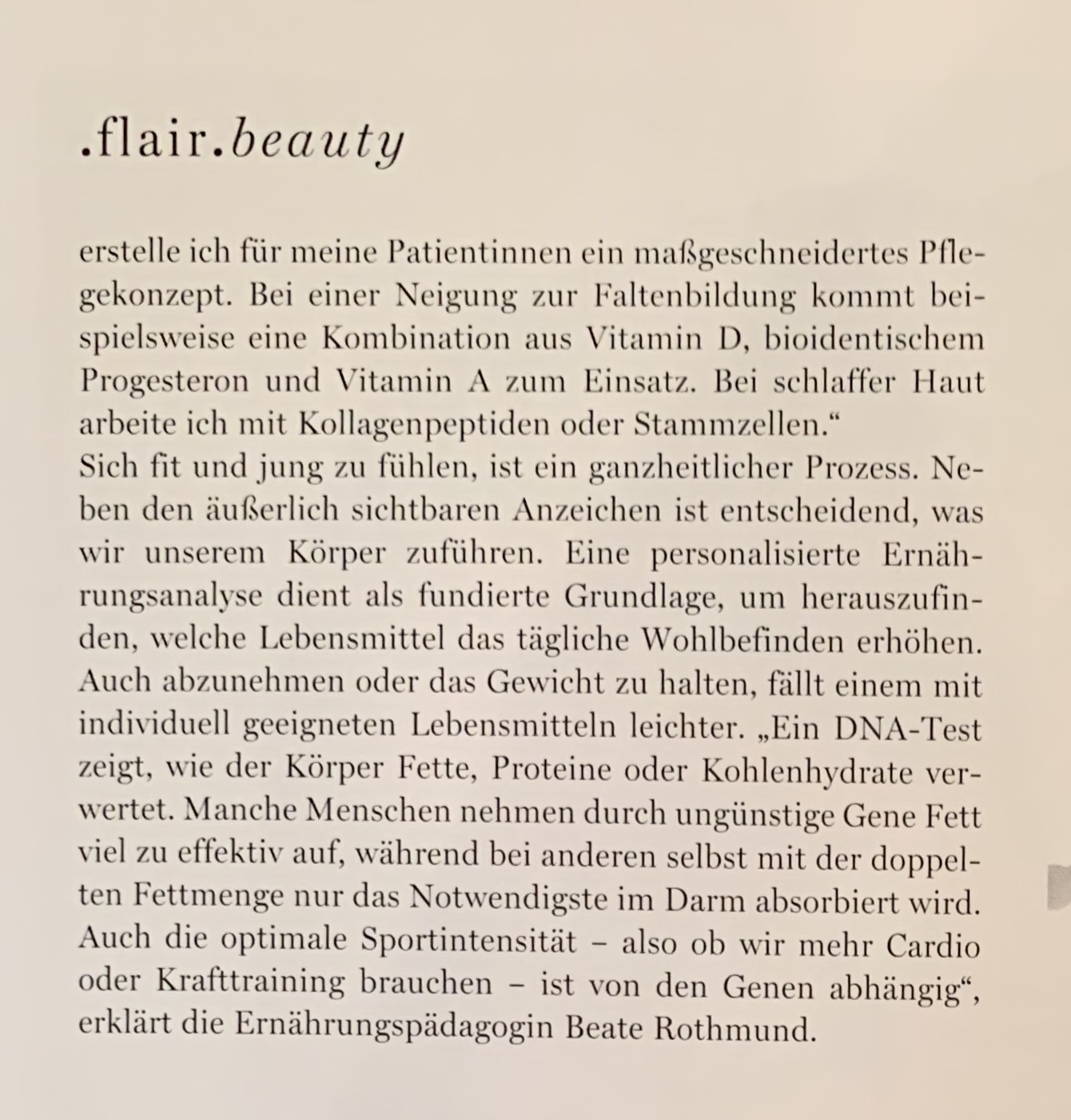 Beate Rothmund FLAIR