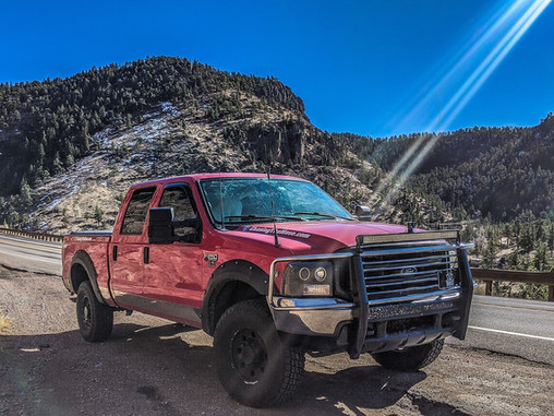Chasing storms in a 20-year-old truck