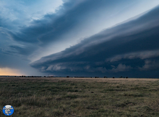 Chased by a squall line