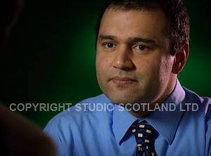 LED lights in use for portrait work