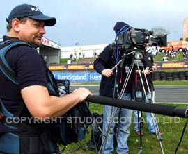 Trackside filming with camera on Libec tripod  h