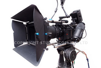Left side of RED One MX camera fitted with Redrock mattbox.