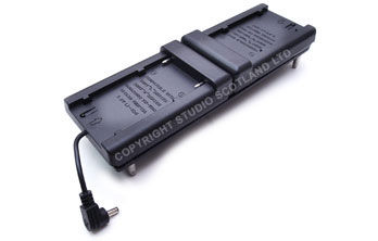 NP battery adapter attaches easily to miniplus light and provides up to 8 hours of full beam power.