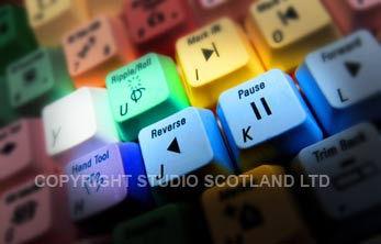 Editing keyboard closeup