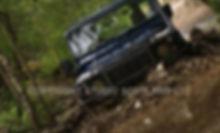 Land Rover going through water. Client: Crieff Hydro Hotel