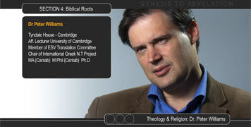 Photo of theologian Dr Peter Williams
