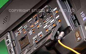 F350 left-side drop-down control panel showing audio configuration
