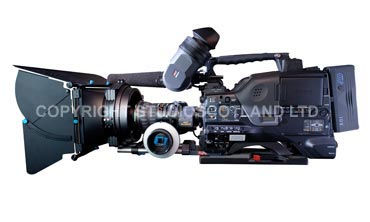 Sony PDW-700 showing fitted Redrock Mattebox and Focus Puller.