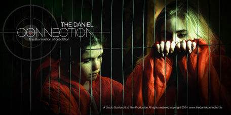 The Daniel Connection poster 2 with two girls depicted as insurgents