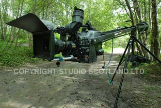Sony PDW-700 on crane ready for outdoor action capture