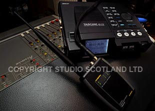Camlynx RX and Tascam HP-2 Recorder