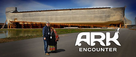 The Ark Encounter in Kentucky showing a replica of Noah's Ark.