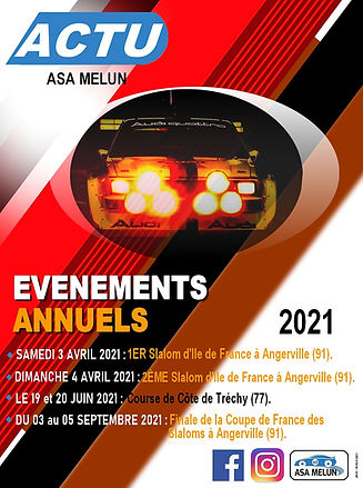 Evénements ASA Melun 2021
