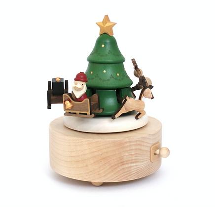 Boîte à musique Père Noël et Renne n°35