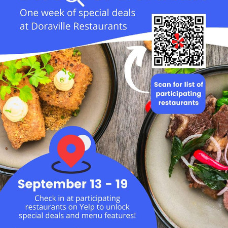 """COMING SOON: The very first Doraville Restaurant Week""""Discover Doraville""""September 13-19,2021"""
