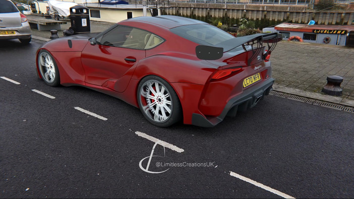 Motion Tracking video of Toyota Supra by Limitless Creations Essex