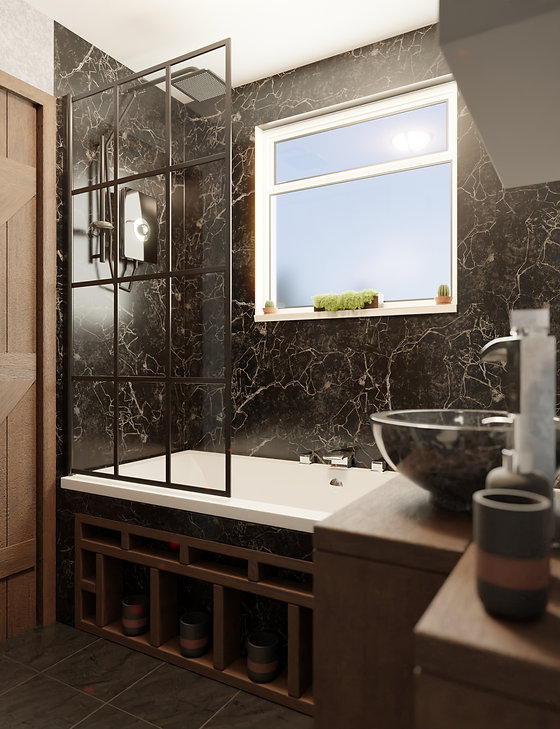 3D visualisation of a luxury bathroom interior for a property developer - Limitless Creations Digital art