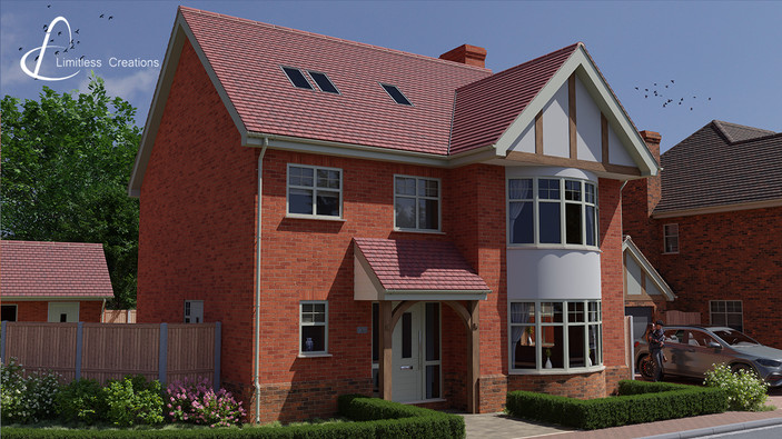 CGI Render of house on property development - Digital Art by Limitless creations, Essex