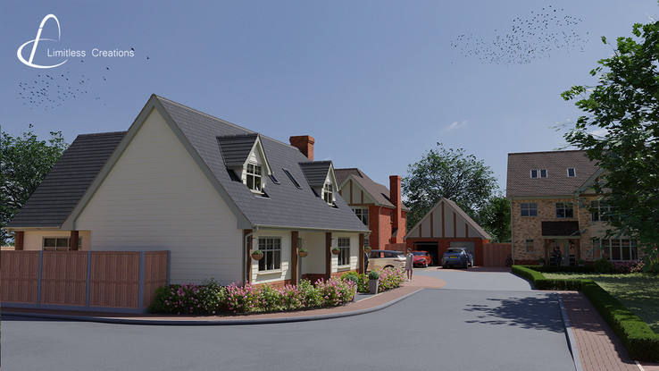 CGI Render of property development street view from Limitless Creations, Essex