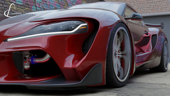CGI created wide arch bodykit by Limitless Creations, Essex