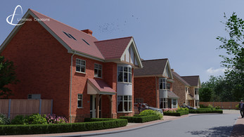 CGI Render from architect's drawings of a property on a new development in Essex