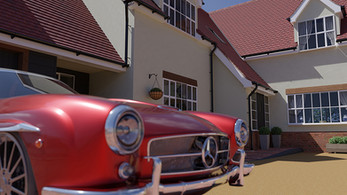 CGI 3d illustration of a car and property - Digital art from Limitless Creations, Essex