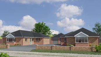 External CGI of a bungalow development in St Osyth, Essex by Limitless Creations