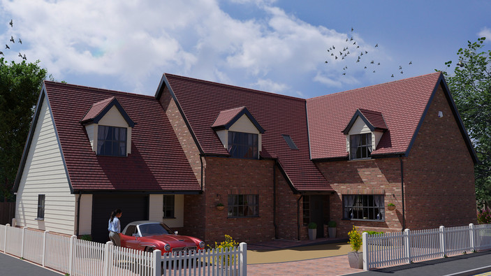 External CGI of a property under development - Digital illustrations from Limitless Creations, Essex