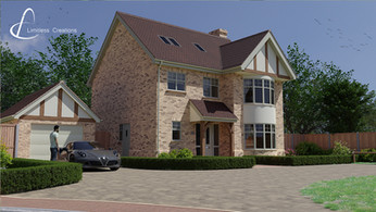 CGI Render of the exterior of property on a new development - Limitless creations, Essex