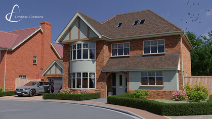 CGI Render of a large property created for a property developer - Digital art by Limitless Creations, Essex