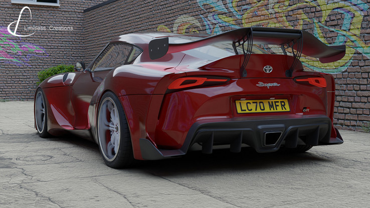 CGI created wide arch bodykit by Limitless Creations