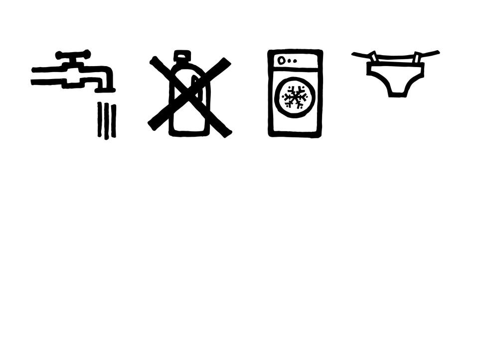 Care instruction graphics
