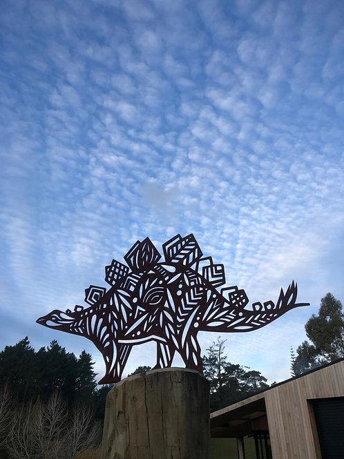 Stegosaurus Corten Sculpture