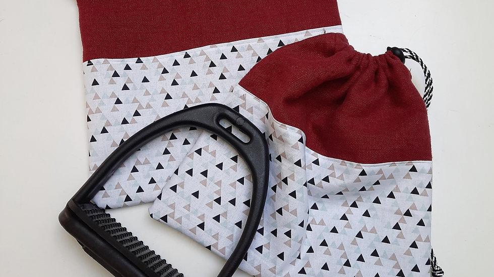 Pochettes d'étriers lin et triangles