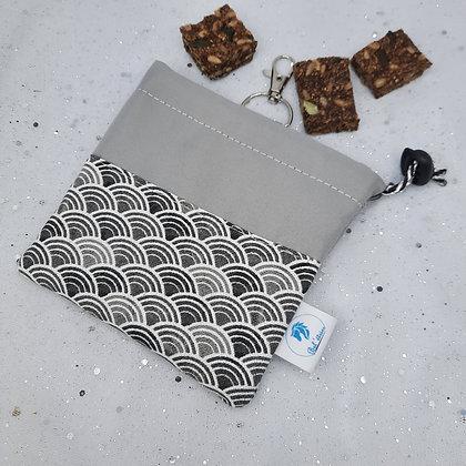 Pochette à friandises imperméable asie gris