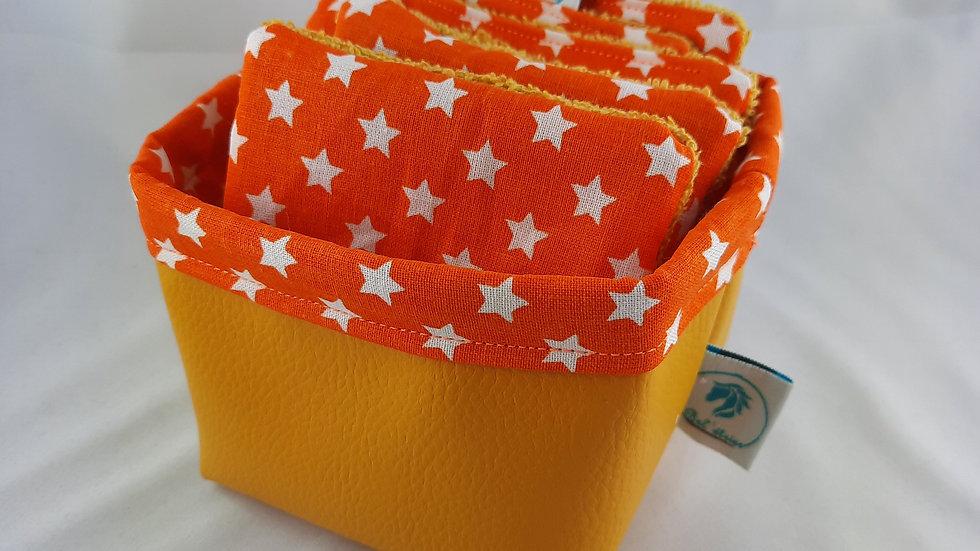 Panière et 6 lingettes étoiles