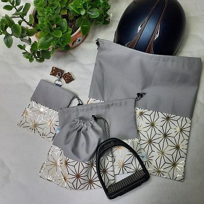 Box imperméable or et gris