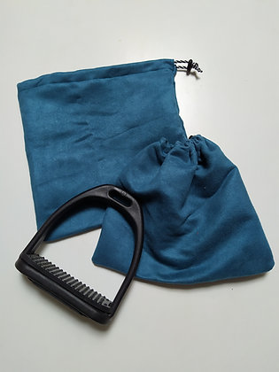Pochettes d'étriers suédine bleu