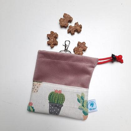 Pochette à friandises cactus rose