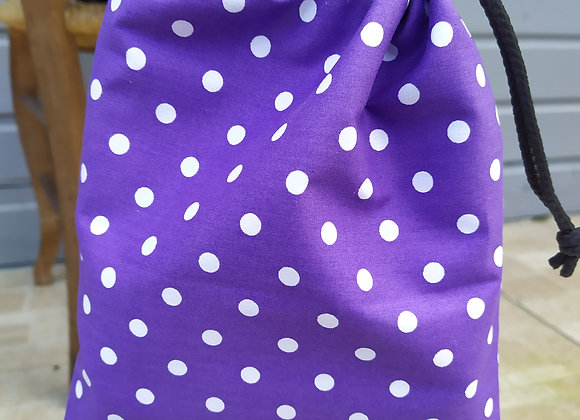 Pochettes d'étriers violet à pois